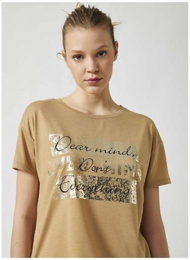 Koton Koton T-Shirt Bej